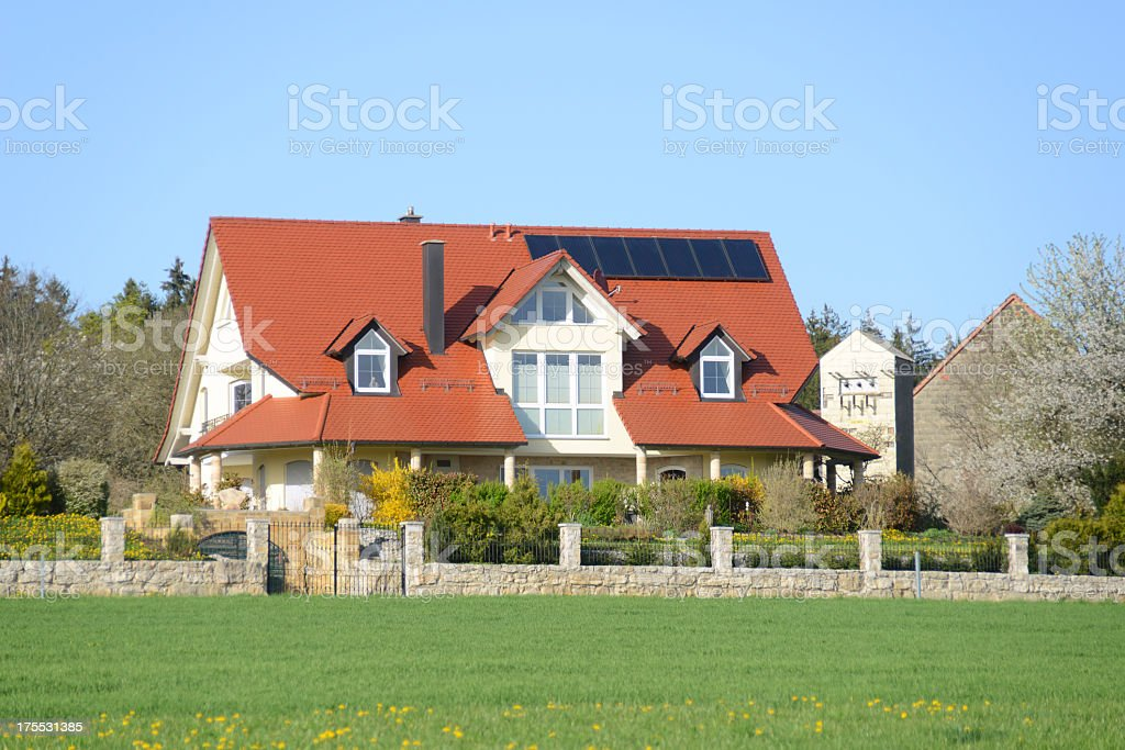 mansion with no neighbours royalty-free stock photo