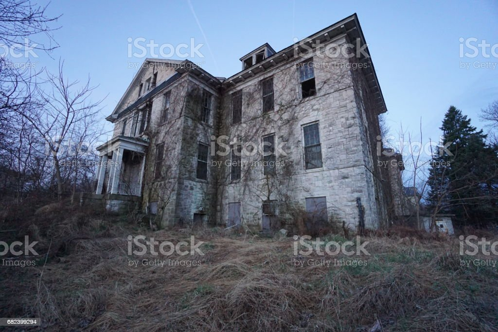 Mansions, Abandoned Asylums, Abandoned Churches, Abandoned Schools, Abandoned Places royalty-free stock photo