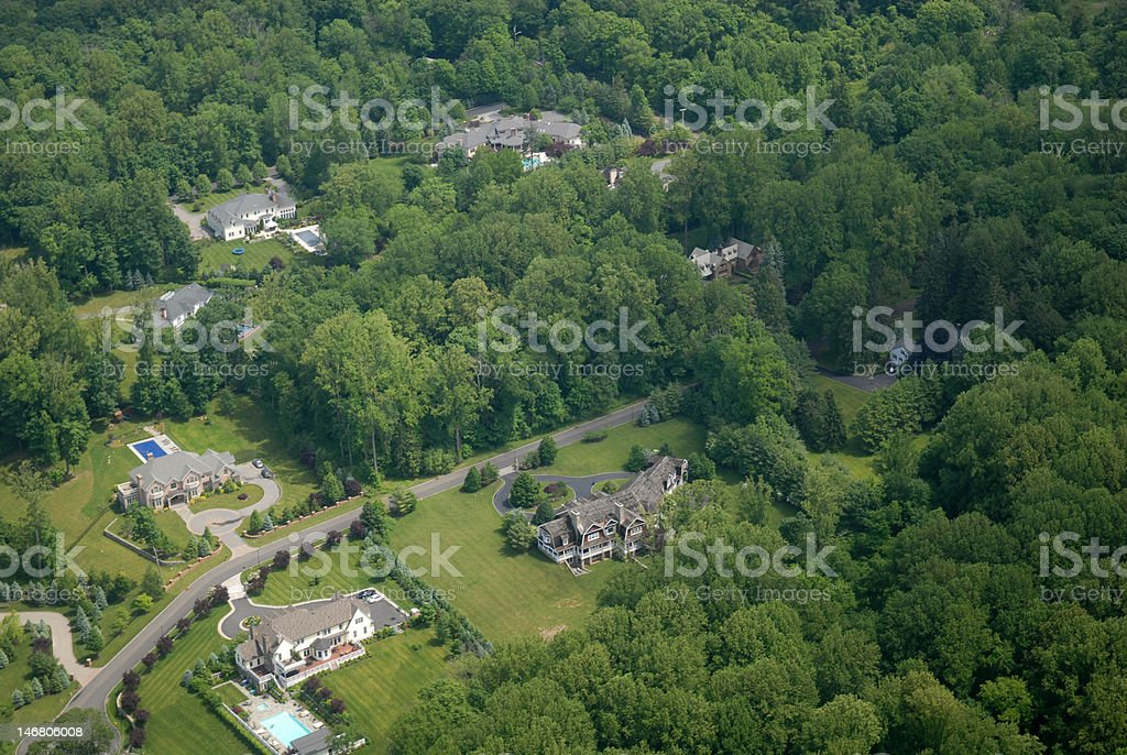 Mansions stock photo
