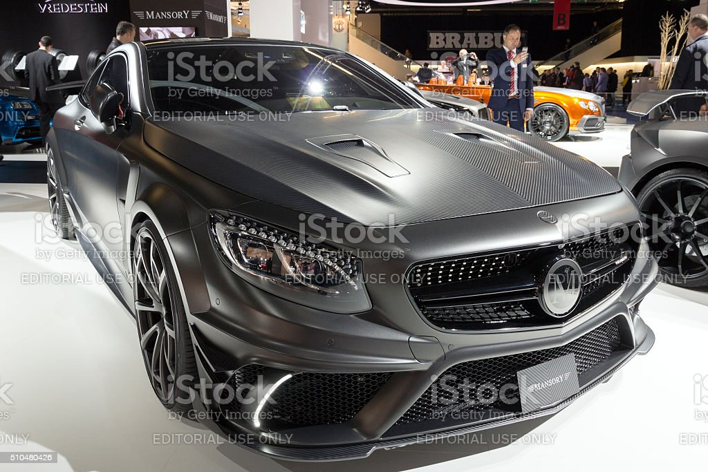 Mansory Mercedes S Class Coupe AMG S63 stock photo