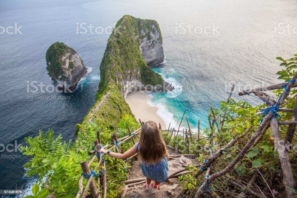 Manta Bay Or Kelingking Beach On Nusa Penida Island Bali ...