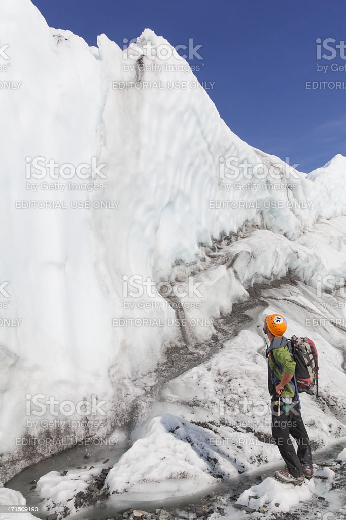 Mantanuska Glacier Alaska stock photo