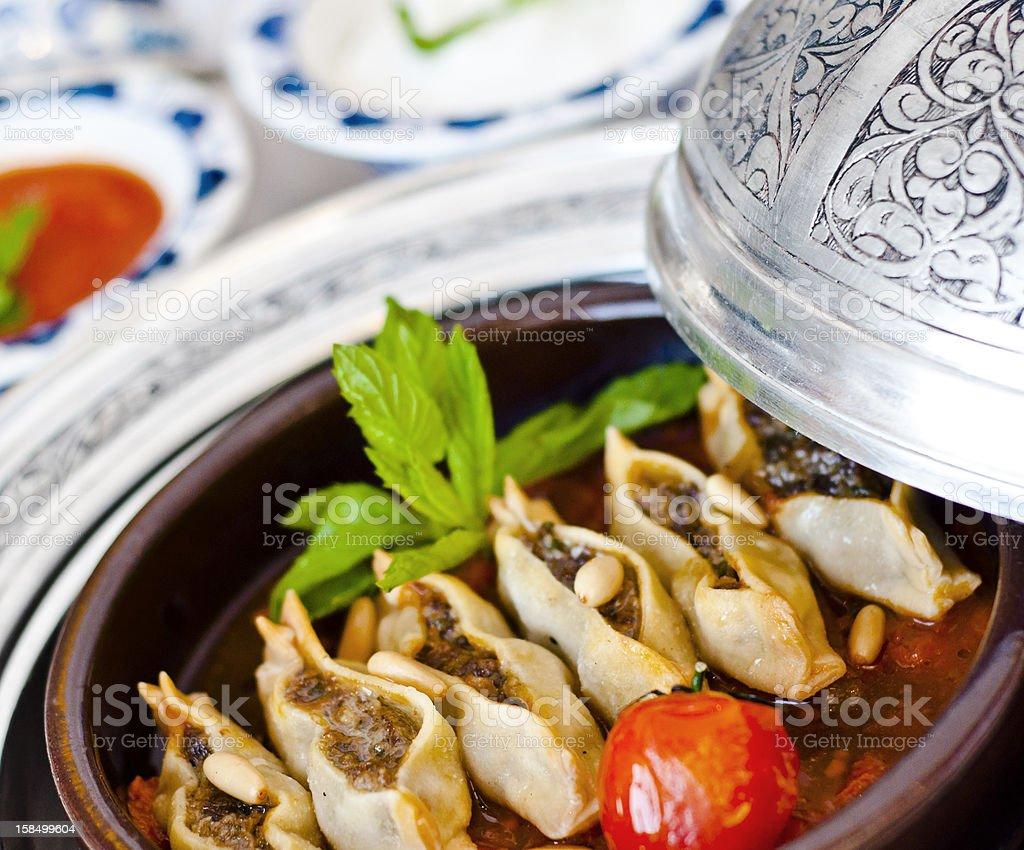 Manti (Turkish Ravioli) royalty-free stock photo