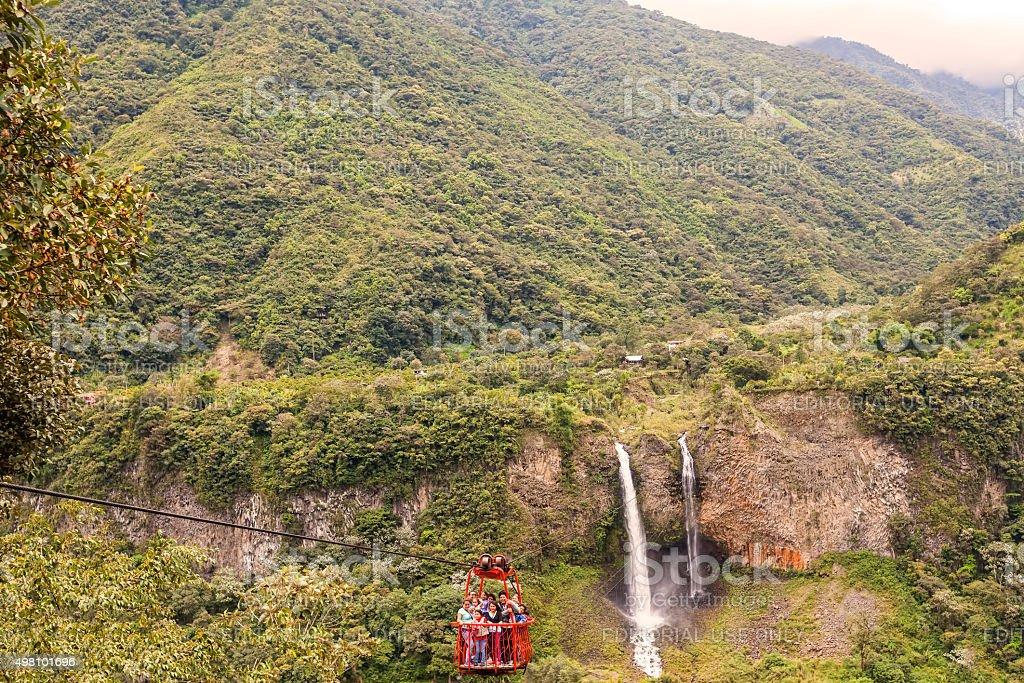 Manto De La Novia Waterfall stock photo
