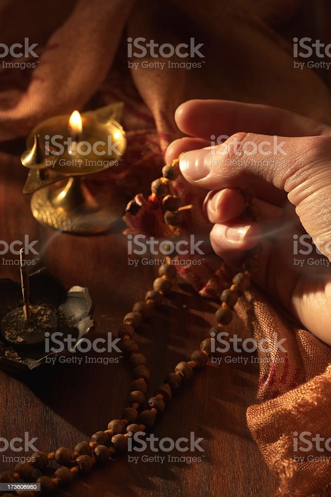 Mantra, Incense and Fire royalty-free stock photo