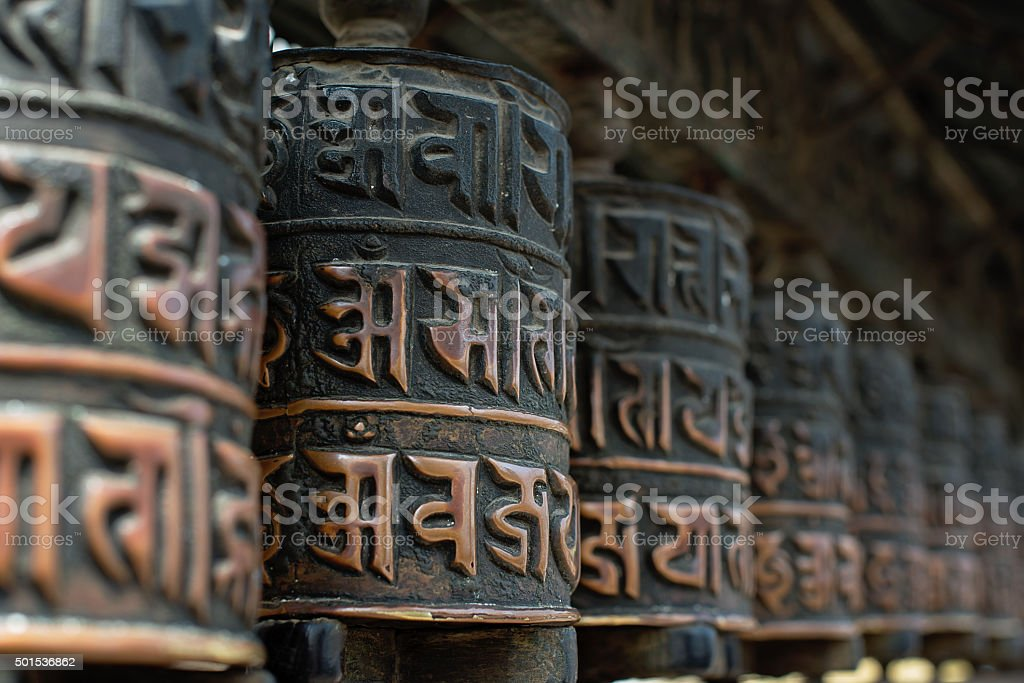 Mantra Wheels Buddhist Praying Wheels Nepal Swayambhunath