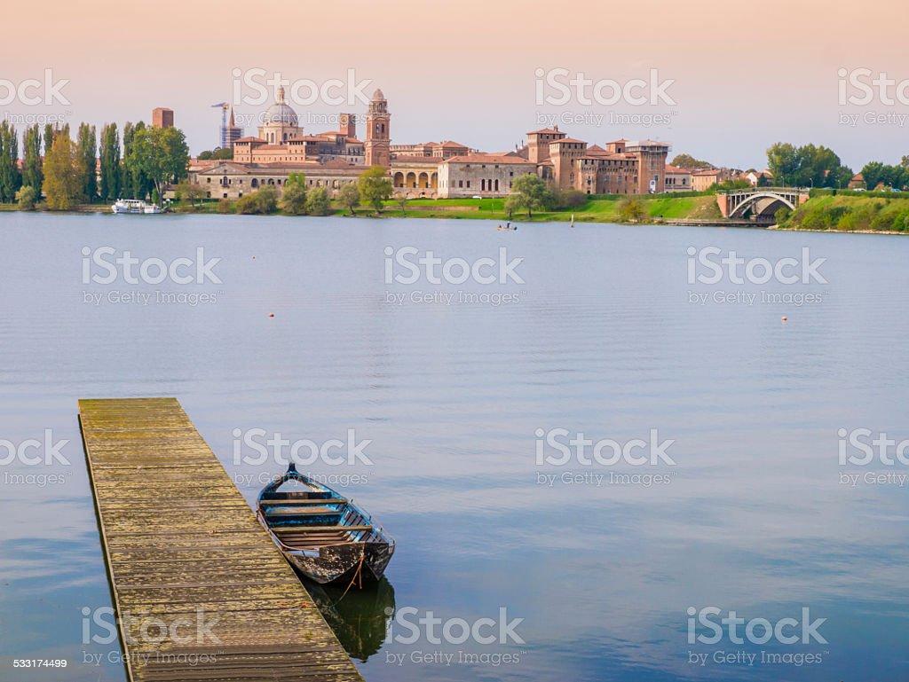 Mantua skyline, Italy stock photo