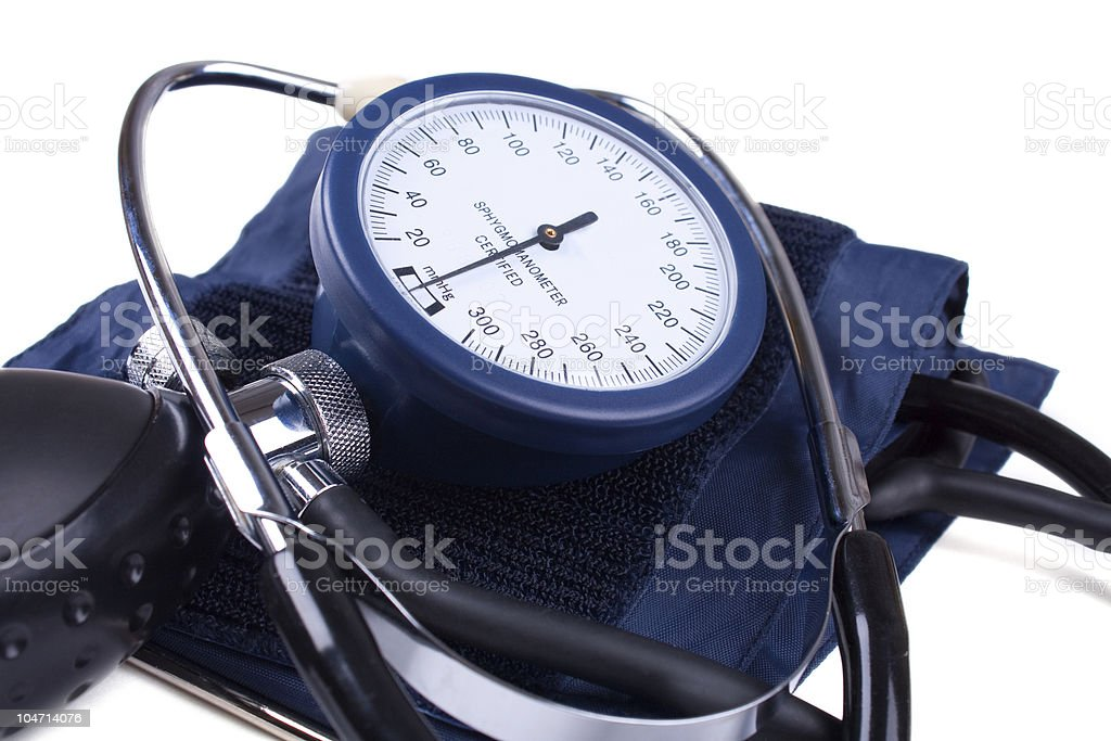 Manual blood pressure medical tool isolated stock photo