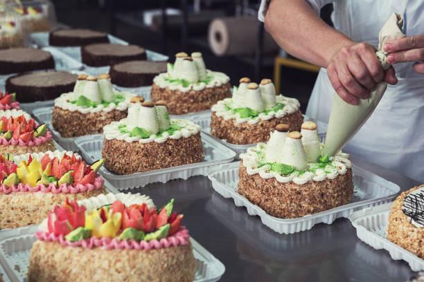 Manuelle Kuchen Produktion – Foto