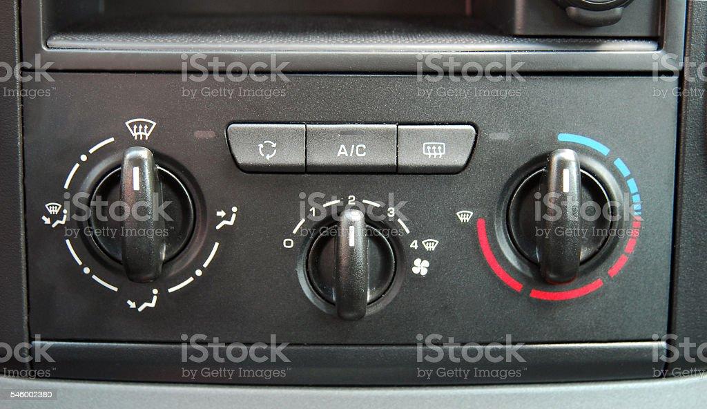 manual Car Air Conditioner stock photo