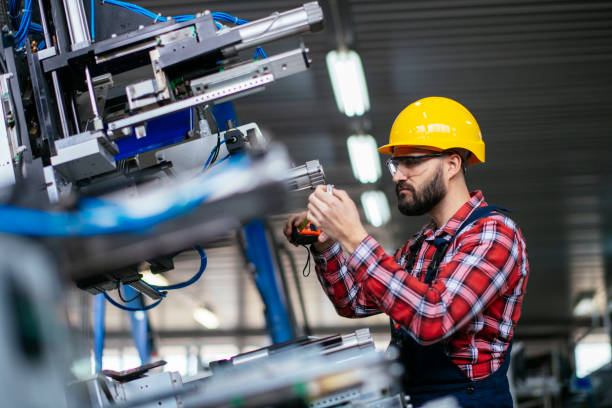 Manual factory worker stock photo stock photo