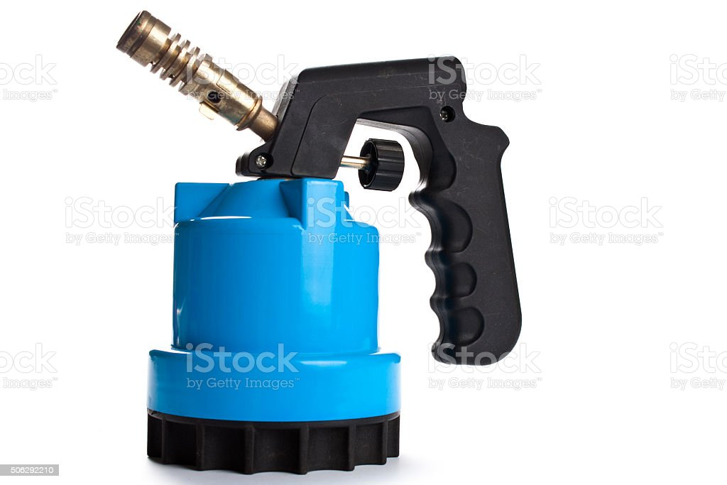 manual gas burner on a white background stock photo