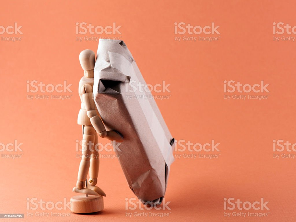 Manual Handling; Don't Struggle stock photo