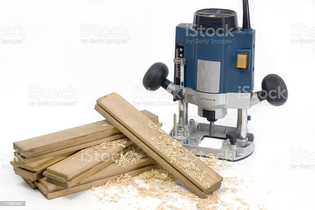 Manual mill and flooring batten stock photo