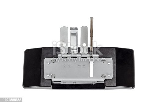 Press for gluing a film isolated on white background