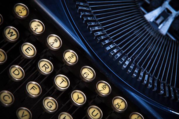 Manual Typewriter Close-Up stock photo