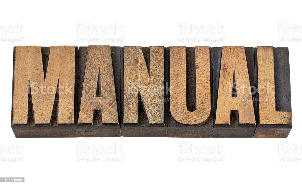 manual  word in wood type royalty-free stock photo