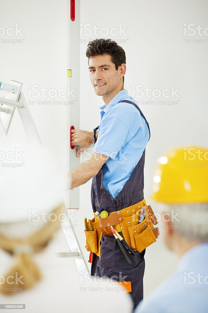 Manual Worker at Construction Site. royalty-free stock photo