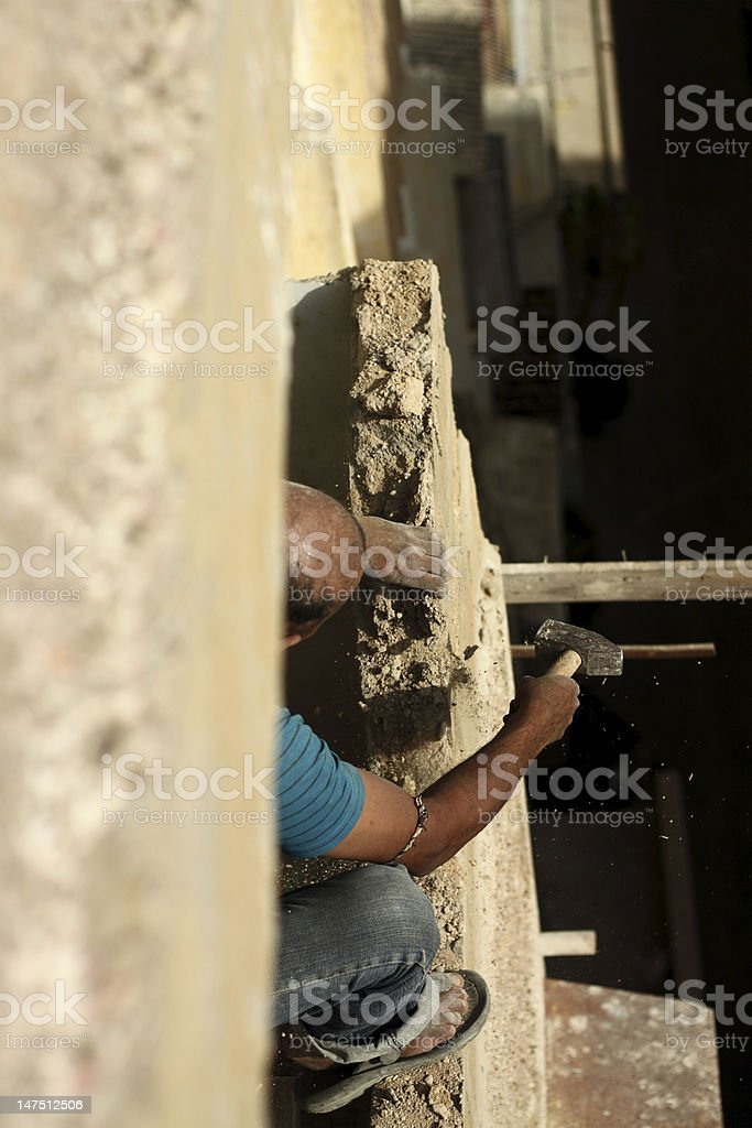 Manual worker at work stock photo