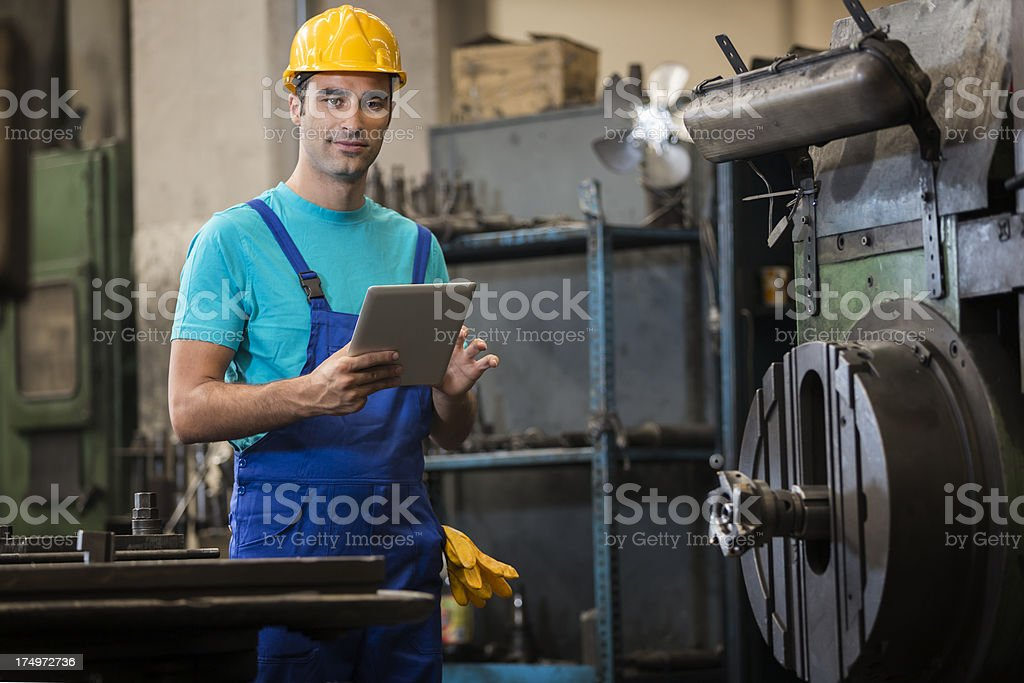 Manual Worker Checking royalty-free stock photo