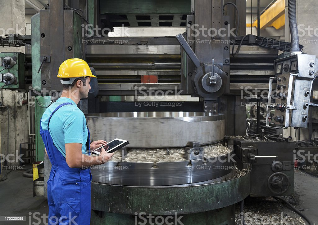 Manual Worker Checking stock photo