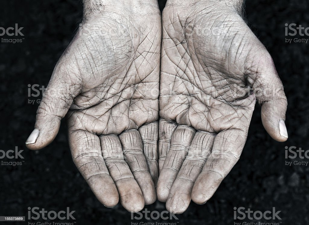 Manual worker hands royalty-free stock photo