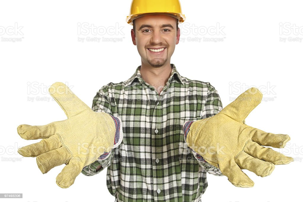 manual worker help royalty-free stock photo
