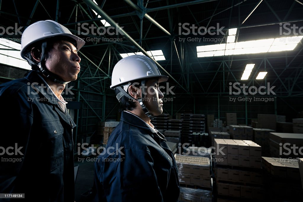 Manual Worker Industry Warehouse Portrait royalty-free stock photo