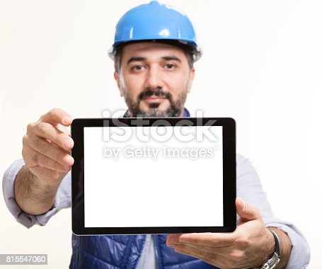 994878714 istock photo Manual worker on white background 815547060