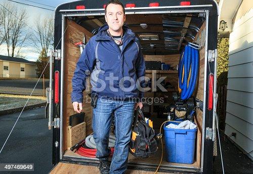 istock Manual Worker - Trailer 497469649