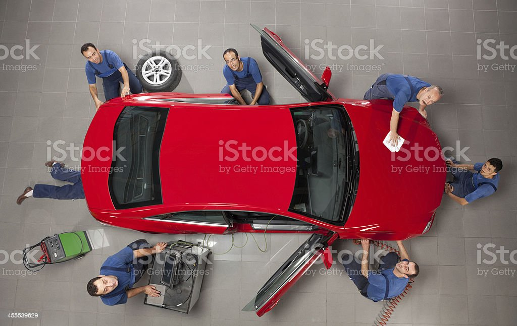 Manual workers working royalty-free stock photo