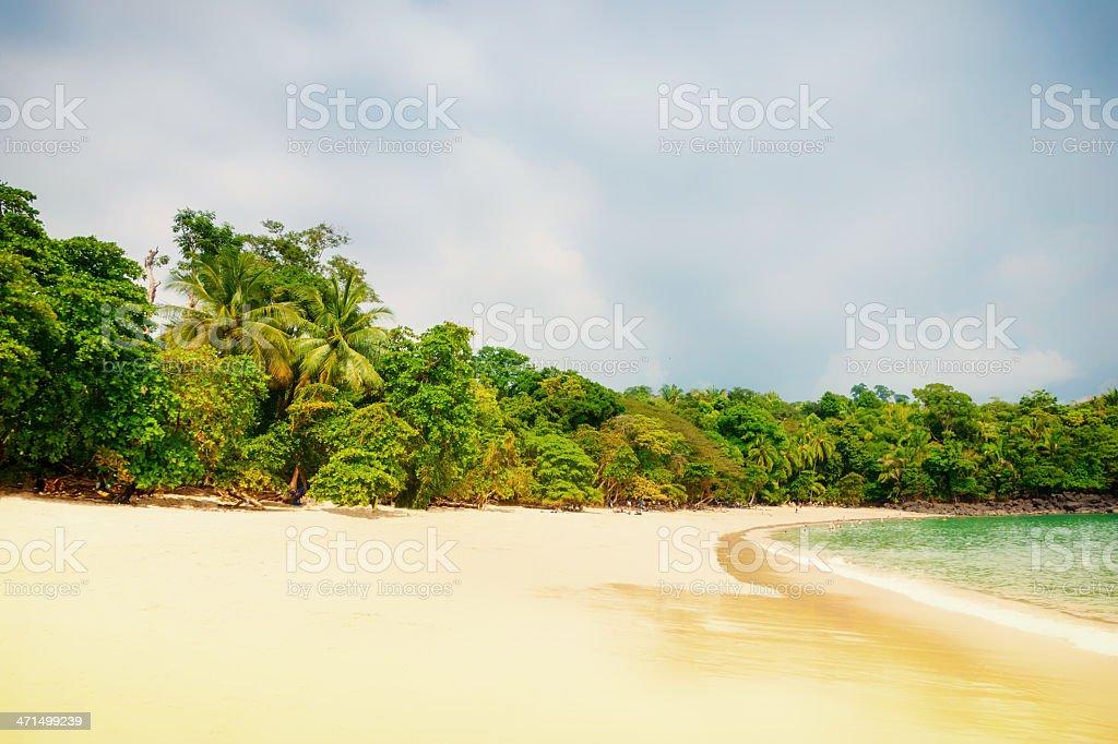 Manuel Antonio Beach Costa Rica stock photo