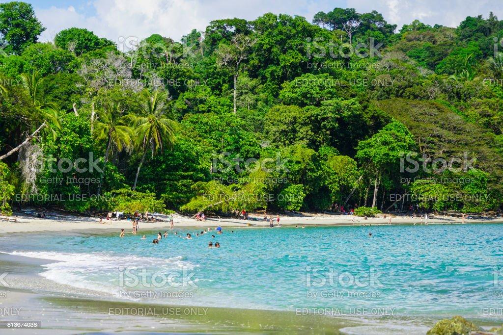 Manuel Antonio beach in The Manuel Antonio National Park, Panama stock photo