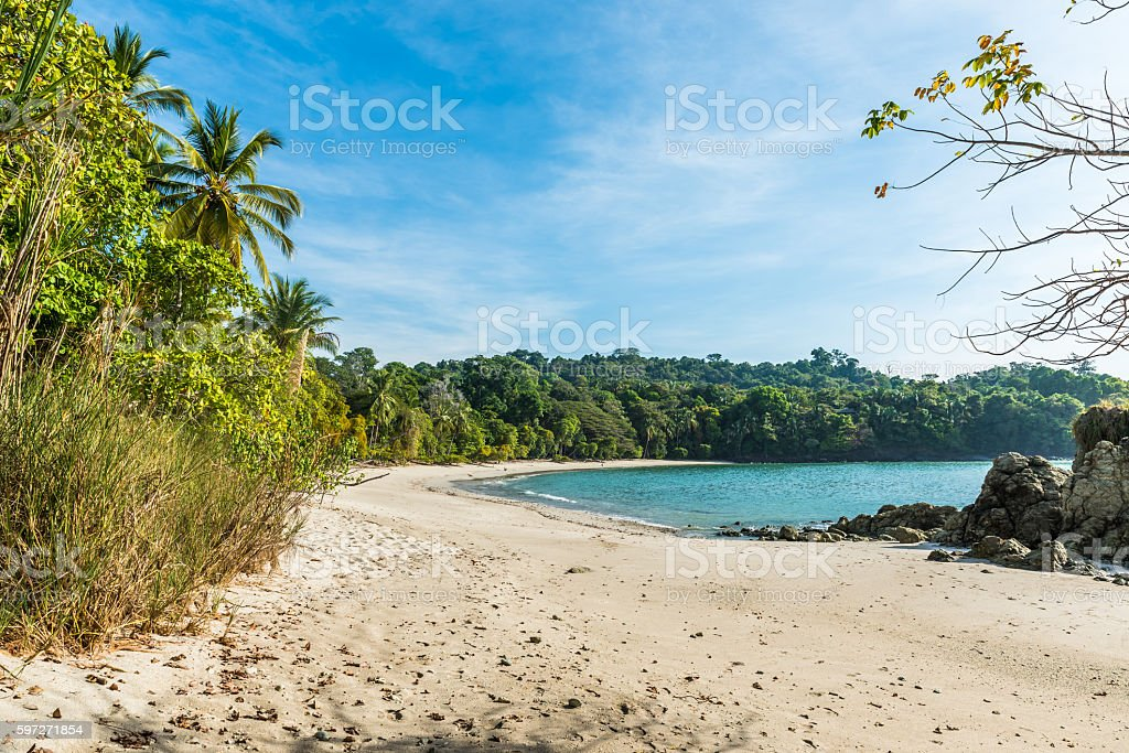 Manuel Antonio, Costa Rica - beautiful tropical beach Lizenzfreies stock-foto