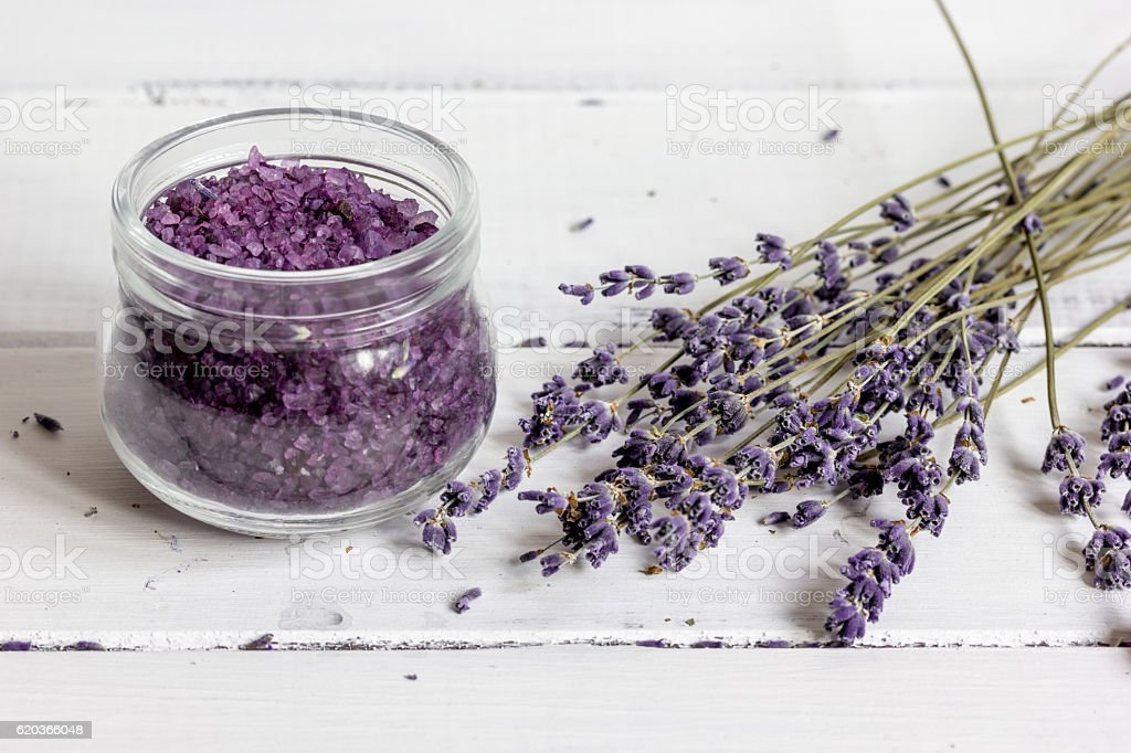 manufacture of homemade cosmetics with lavander close up zbiór zdjęć royalty-free