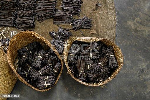 istock Manufacture of vanilla 830836194
