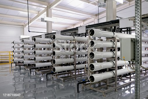 Production, a system for cleaning water and various liquids. New technologies, communications and development for water supply of industrial production.