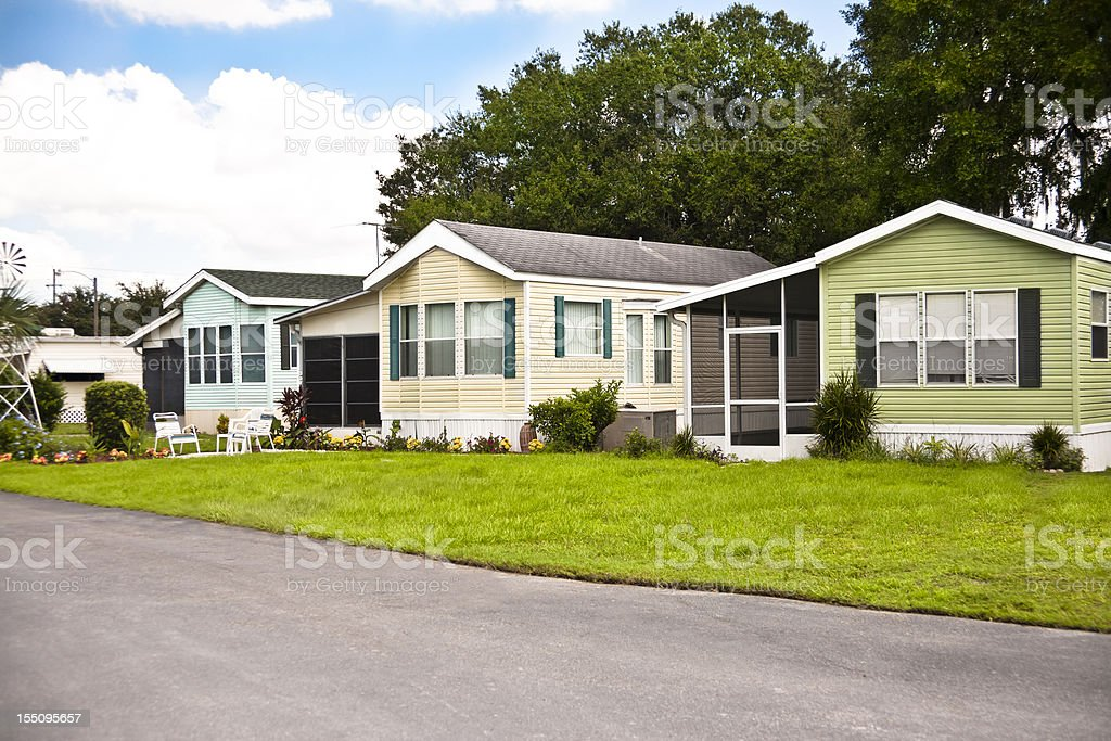 Manufactured Home Park stock photo