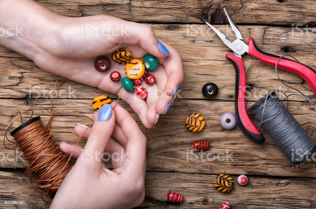 Manufacturer of women jewelry stock photo