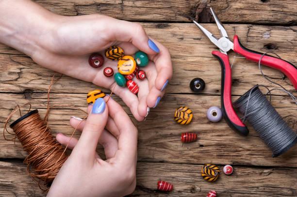 Manufacturer of women jewelry stock photo
