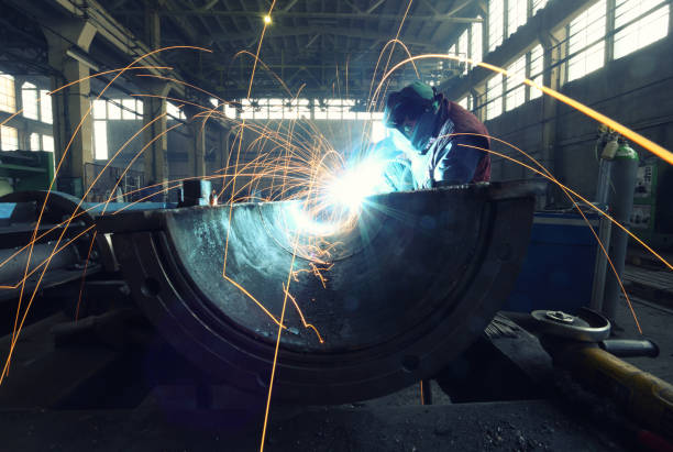 Herstellung einer riesigen Rohr – Foto