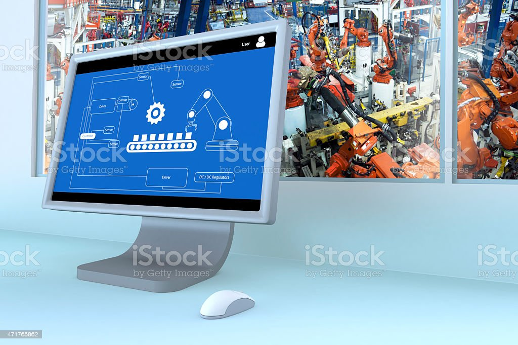 Manufacturing Automation stock photo
