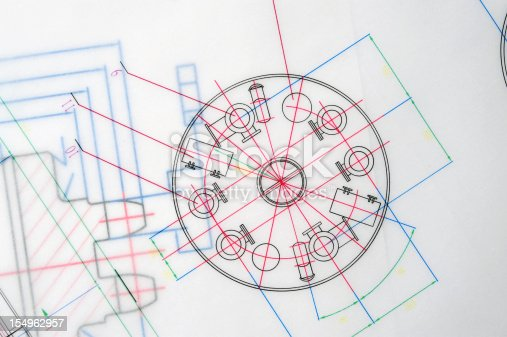istock Manufacturing Blueprint Paperwork Document-Industry Design Printout 154962957