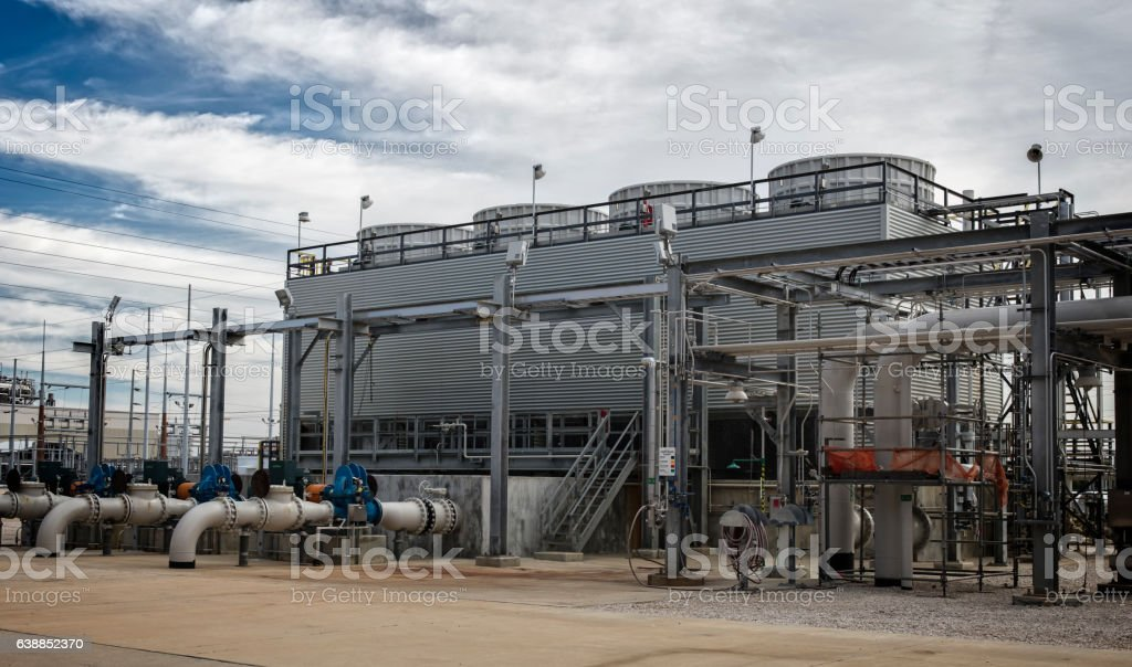 Manufacturing Cooling Tower stock photo