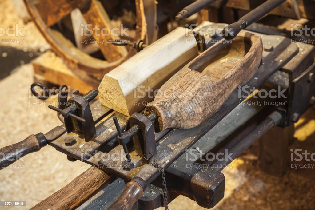 Manufacturing facility of Klompen, Holland stock photo