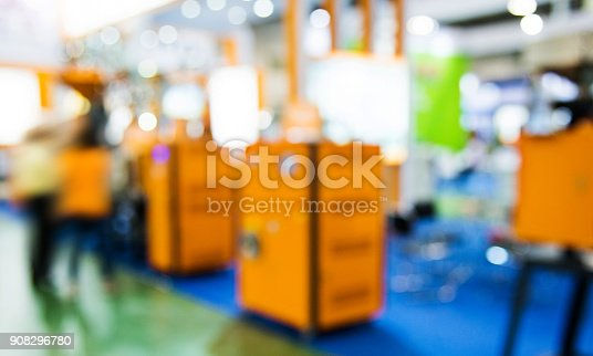 istock Manufacturing factory in bokeh 908296780