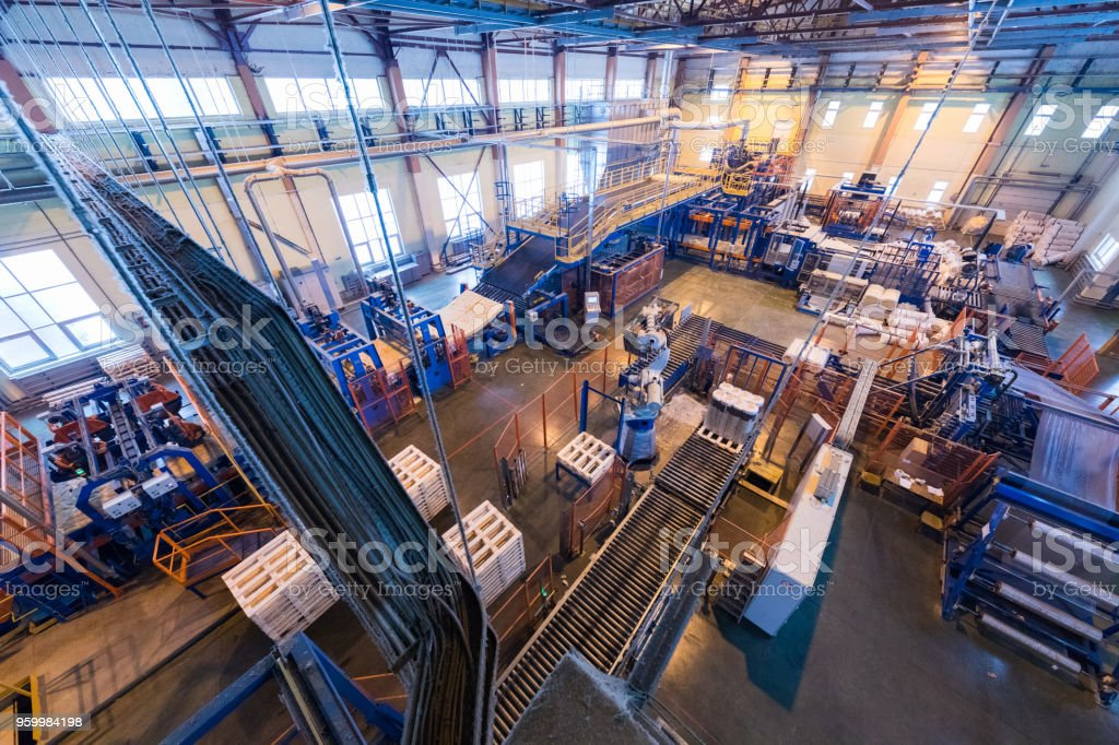 Manufacturing factory foto stock royalty-free