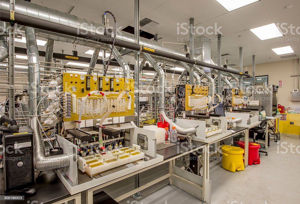 Manufacturing Lab for Biotech stock photo