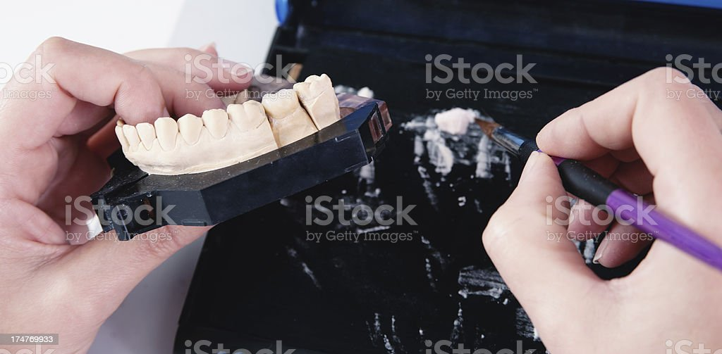 Manufacturing of Ceramic Crown royalty-free stock photo