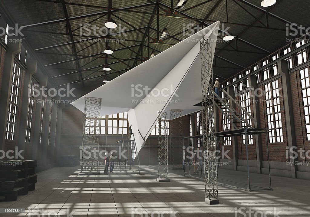 Manufacturing paper plant royalty-free stock photo